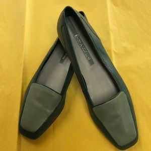 Enzo Angiolini green leather flats.  7.5N